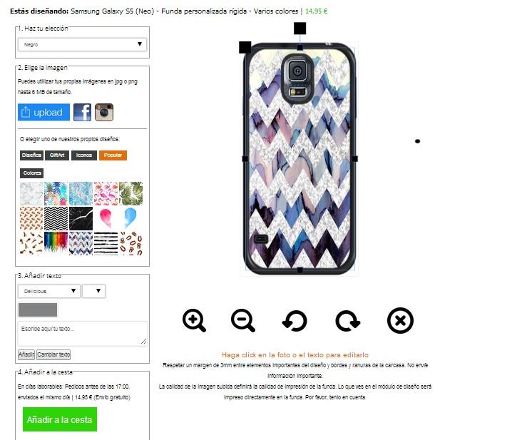 Cover con foto Samsung Galaxy S5