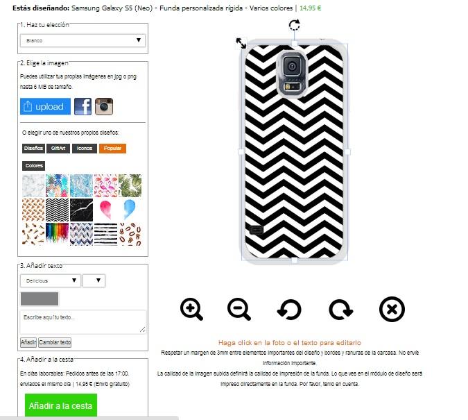 Cover personalizzabili Galaxy S5