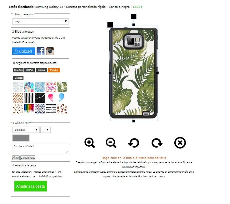 Custodie personalizzate Samsung Galaxy S2