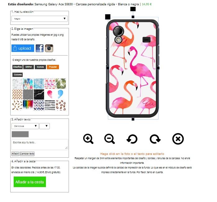 Crea la tua cover per Samsung Galaxy Ace