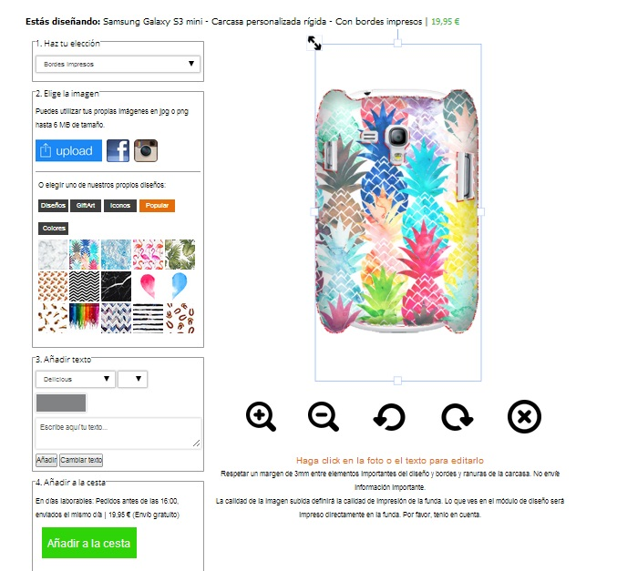 Cover personalizzata Samsung Galaxy S3 mini