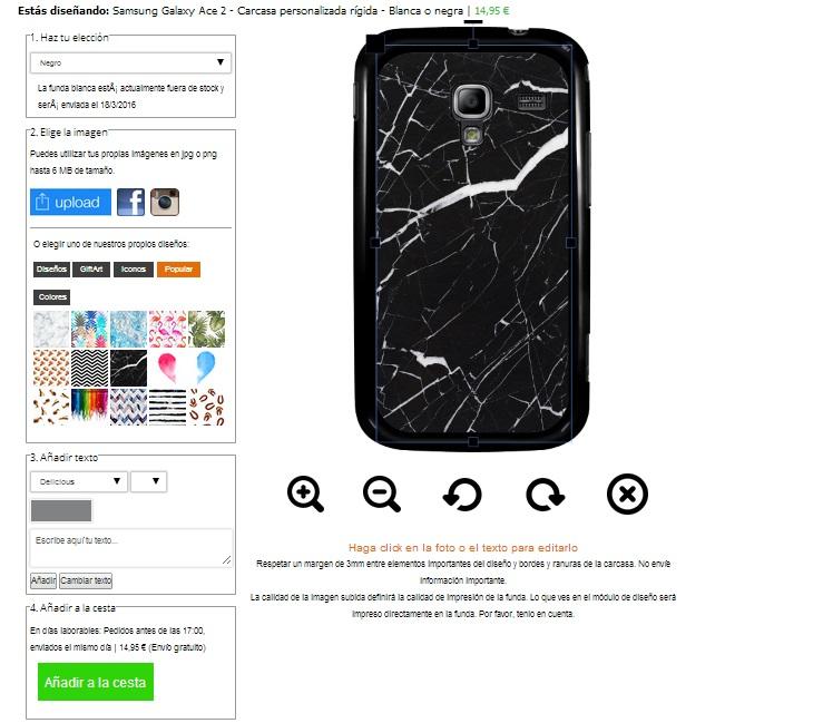Personalizza cover Galaxy Ace 2