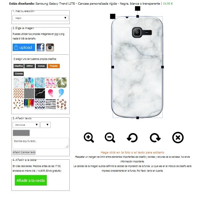 Crea la tua cover Samsung Galaxy Trend Lite