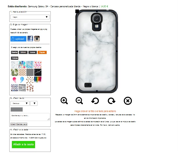Personalizzare cover Samsung Galaxy S4