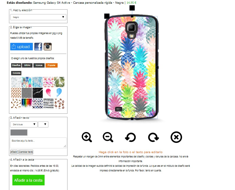 Personalizzare cover Samsung Galaxy S4