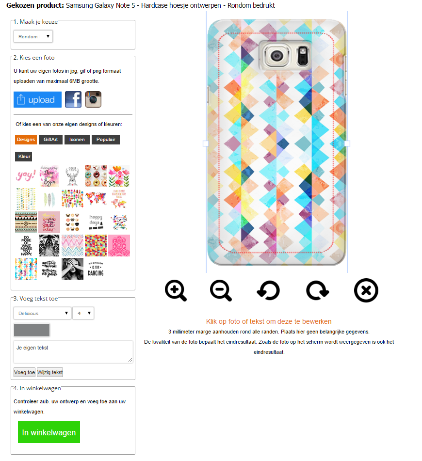Personalizzare cover Samsung Galaxy Note 5