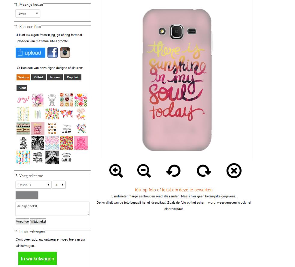 Crea la tua cover Samsung Galaxy core prime