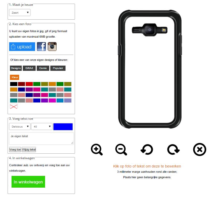 Custodie personalizzate Samsung Galaxy J1