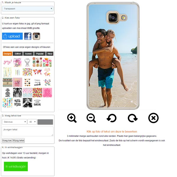 Crea la tua cover per Samsung Galaxy A5 2016
