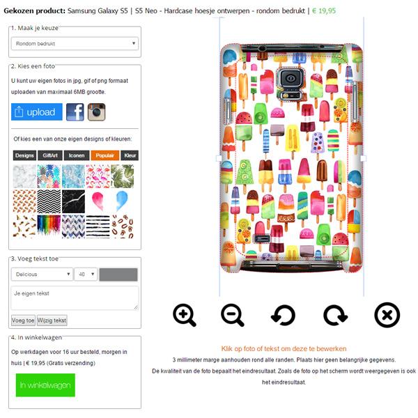 Cover personalizzata Samsung Galaxy S5