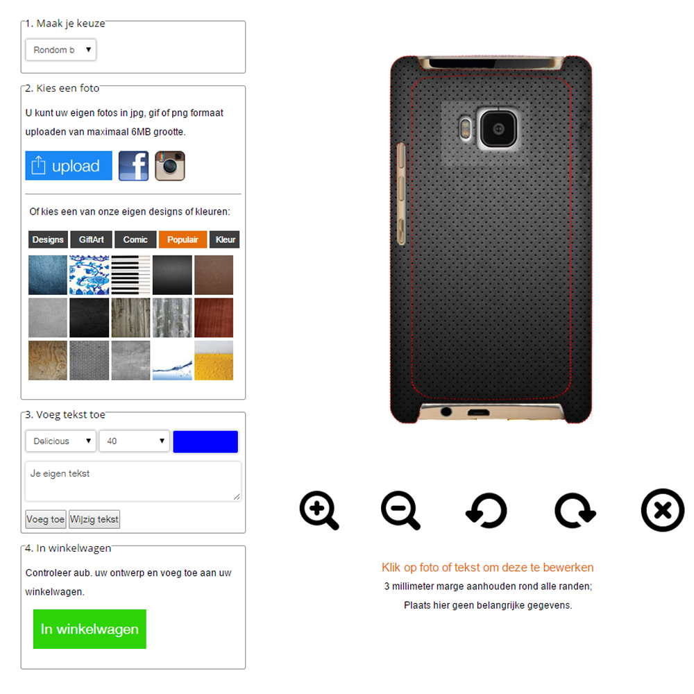Creare cover per HTC One m9