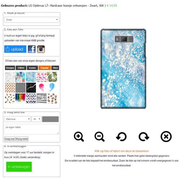 Cover personalizzata LG L7