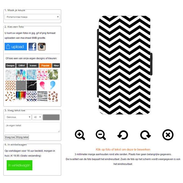 Personalizza la tua custodia a libro per Huawei Ascend P8