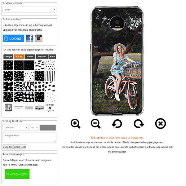 Motorola Moto Z cover personalizzata con foto
