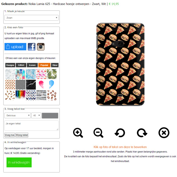 Cover personalizzata Lumia 625