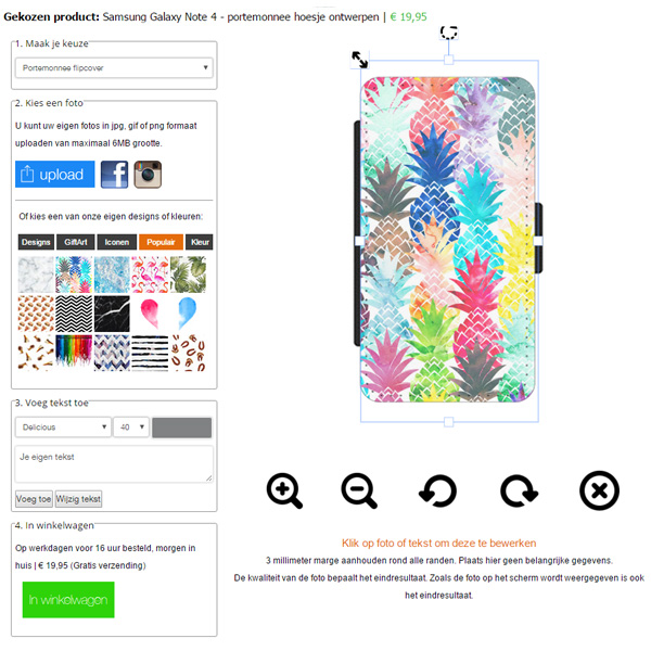 Cover personalizzata Samsung Galaxy note 4