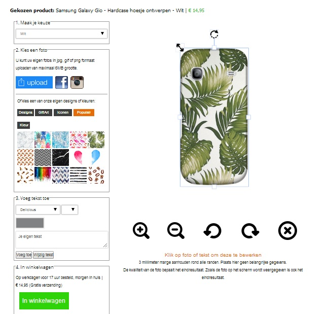 Personalizzare cover Samsung Galaxy Gio