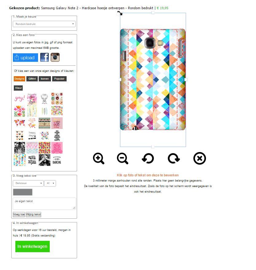 Personalizzare cover Samsung Galaxy Note 2