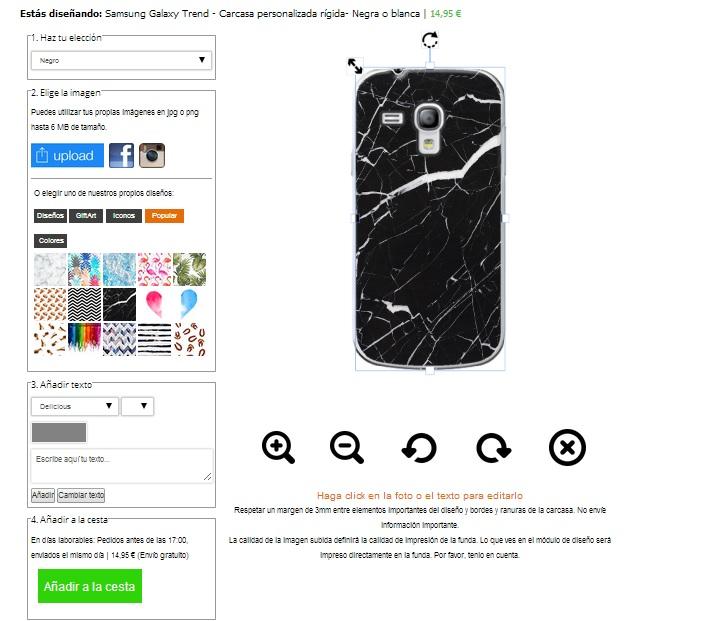 Cover con foto Samsung Galaxy Trend
