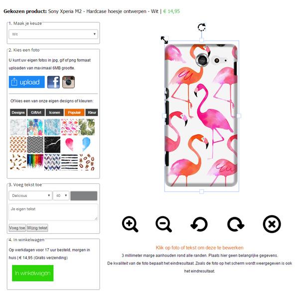 Cover personalizzata Sony Xperia M2