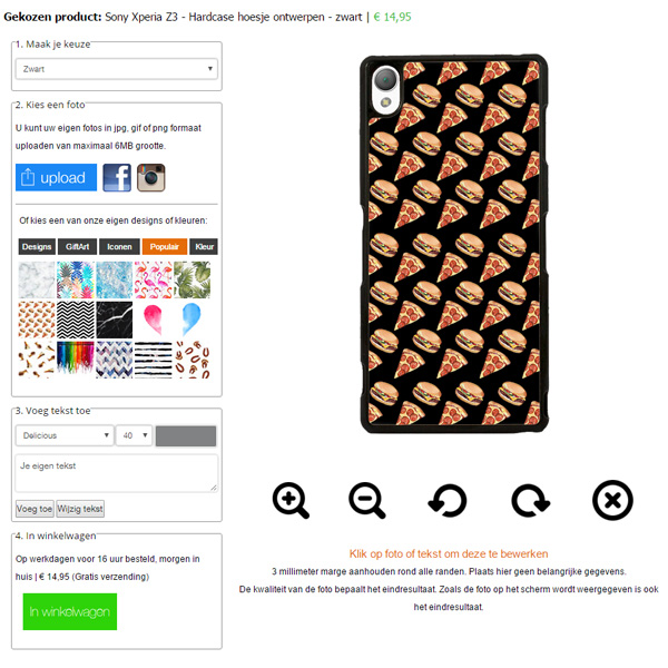 Personalizzare cover per Sony Xperia Z3
