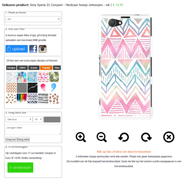 Personalised Sony Xperia Z1 compact case