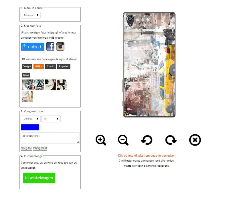 Personalizzare cover Sony Xperia Z5